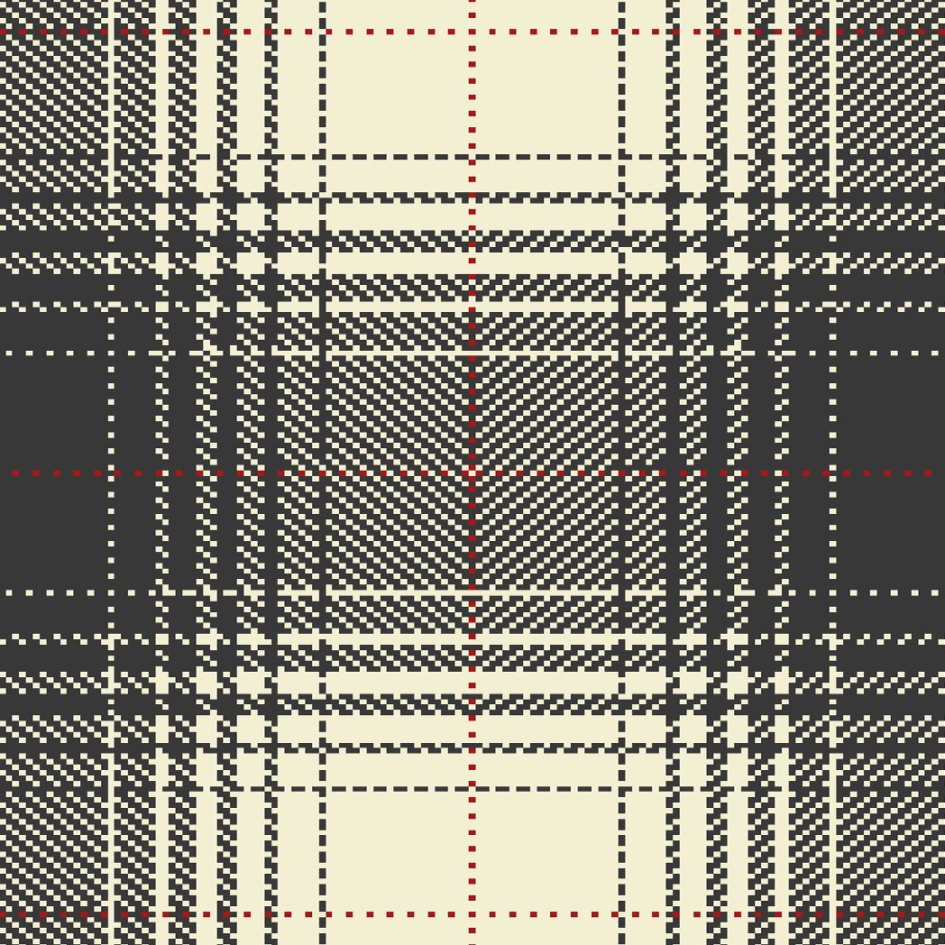 Tartan pattern details for plaid rug made from wool
