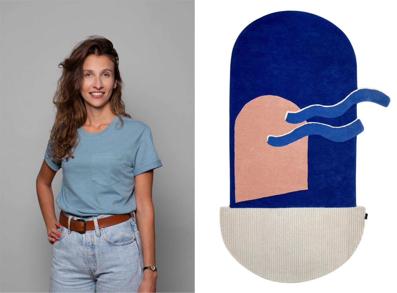 Ekhi Busquet_Portrait + Teppichdesign Französische Designerin
