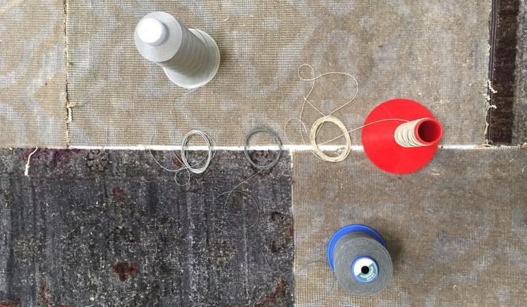 Garnfarbe auswählen Teppichdesign