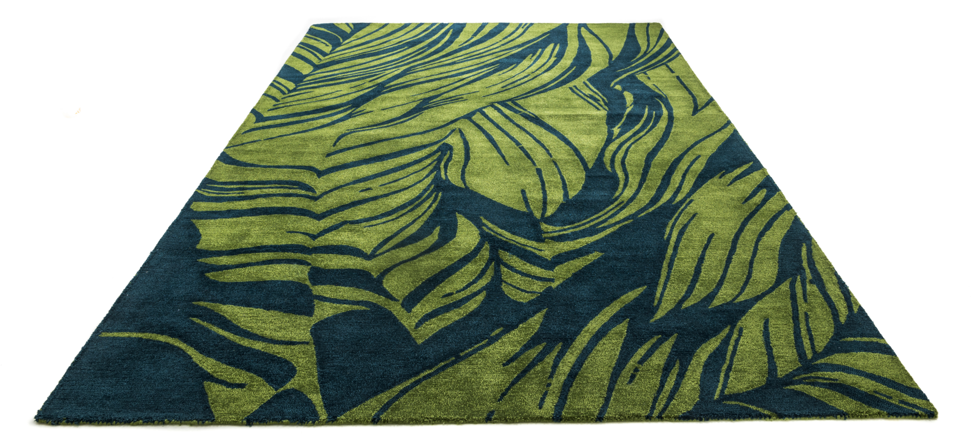 Green sustainable rug