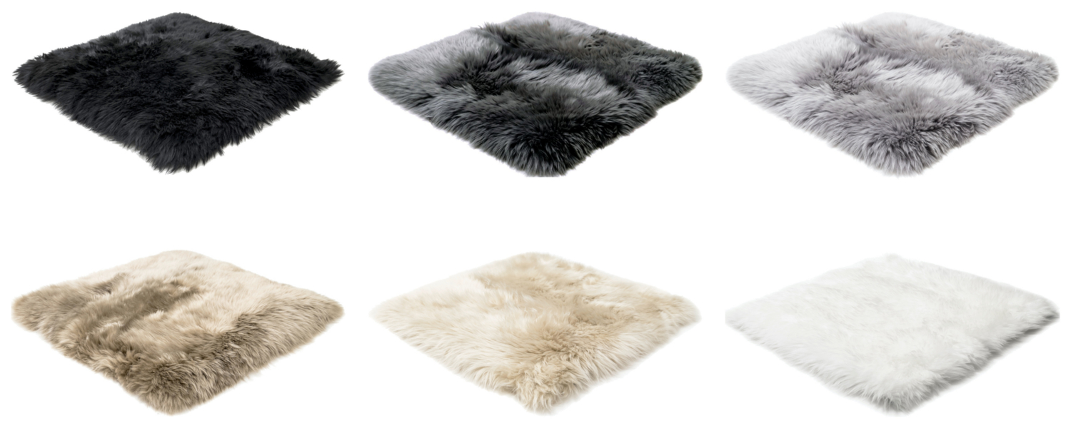 LIVING SOUL sheepskin rug natural colours