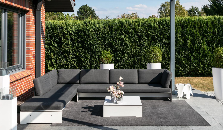 Moderner wasserfester Outdoorteppich Designerteppich für drinnen und draußen Mark 2 Outdoor