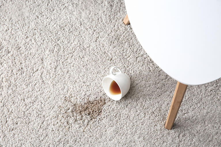 how to remove coffee stains from a carpet