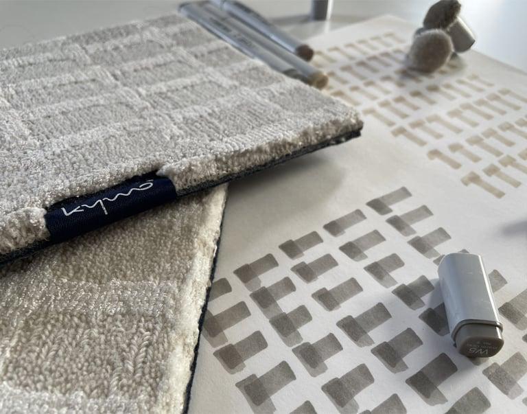 neue Farben SEQUENCE Teppich handgewebt Bauhausstil modern Streifen