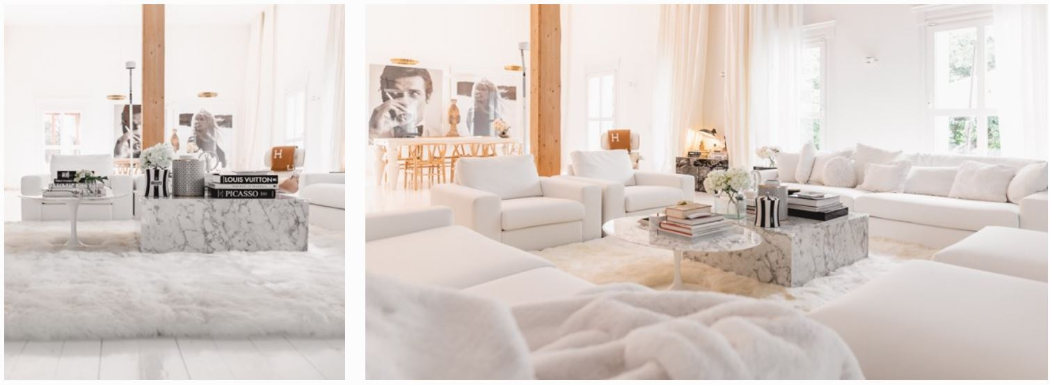 living room all white furniture and carpet lena terlutter