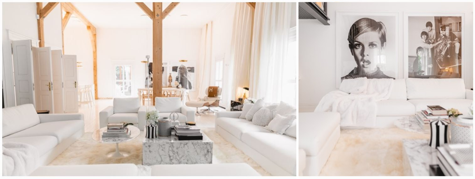 lena terlutter offwhite living room furniture and white rug