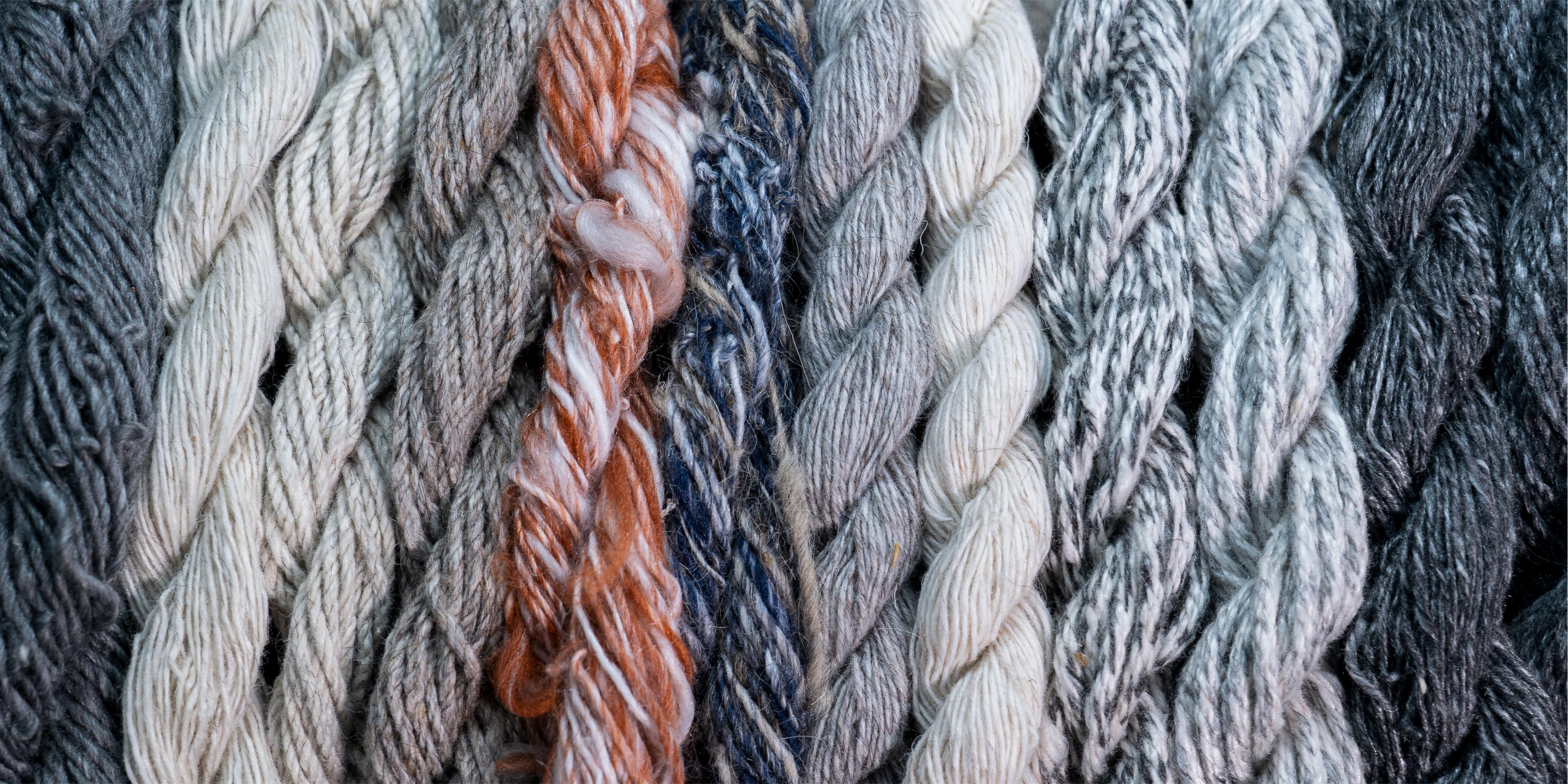 Verschiedene Arten von Wolle