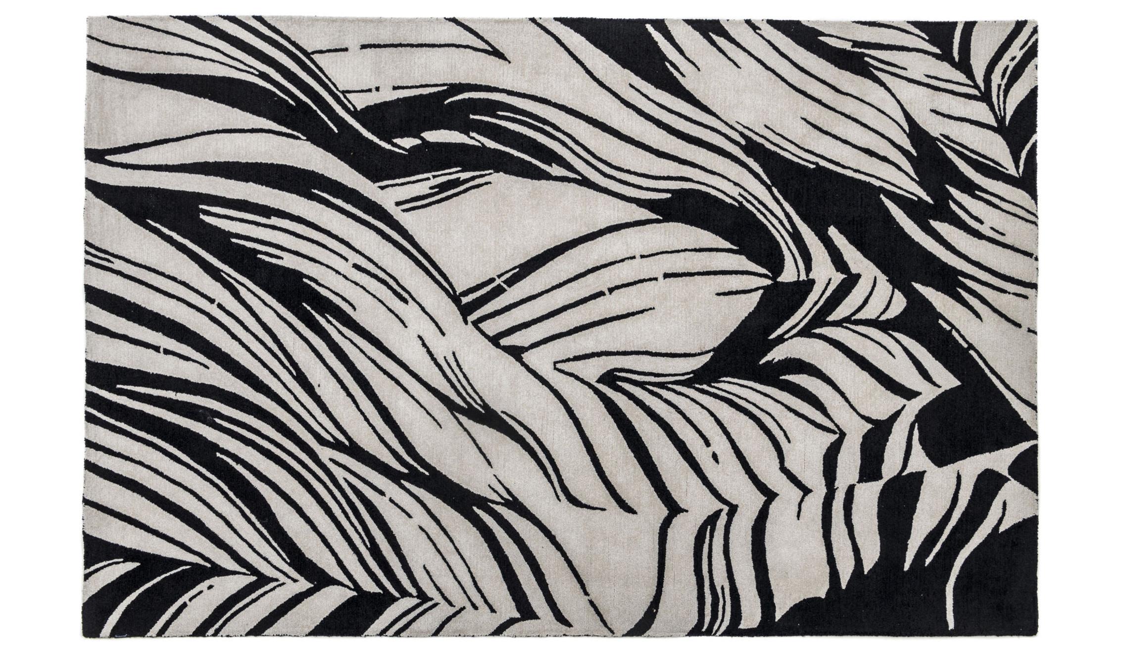Nachhaltiger Teppich aus Polyester in schwarzweiß